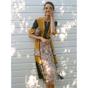 anthropologie let me be autumn patchwork dress